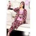 5'li Set %100 Pamuk Bayan Pijama Takımı Sabahlıklı ve Terlikli