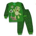 Erkek Çocuk 4-5-6 Yaş %100 PAMUK Kaplumbağa Baskılı Pijama Takımı