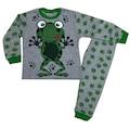 Erkek ve Kız Çocuk 4-5-6 Yaş %100 Pamuklu Kurbağalı Pijama Takımı