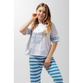 Katia&Bony Blue College Sweet Bear Kadın Pijama Takım -