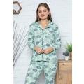 Yeni Sezon Uzun Kollu Düğmeli Kadın Pijama Takımı