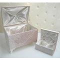 Nişan ve Çeyiz Sandık Seti Fransız Dantelli Gül Model Pudra