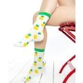 Ananas Desenli Beyaz Soket Çorap