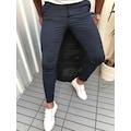 Çizgili Likralı Italyan Stil Kumaş Pantolon