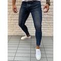 Dark Blue Skiny Likralı Kot Pantolon