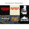 7 Model Baskılı Unisex Sweatshirt Stranger Things Nasa Pubg BMW