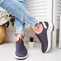 Lui Füme Triko Streç Hologram Detaylı Casual Ayakkabı (Hologram B
