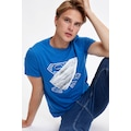 DEFACTO Superman Lisanslı Slim Fit  Bisiklet Yaka Pamuklu Tişört