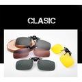 Clip-on Polarize Güneş Gözlüğü Menteşeli Sarı Gece Görüş Lens