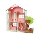 Ahşap Oyun Evi Mobilyalı Oyuncak Ev Işıklı Bebek Evi