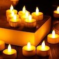 4 Adet Tealight Led Işıklı Mum, Dumansız Led Mum Pil Dahil