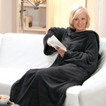 Giyilebilir Kollu Battaniye - Siyah (Türk Malı)