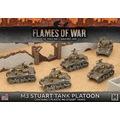 Flames of War UBX56 M3 Stuart Light Tank Platoon (plastic)