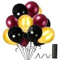 KullanAtParty Metalik Sedefli Parti Balonları (Renk Seçenekli)