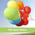 Renkli Balon 100 Adet Helyum Gaz Uyumlu