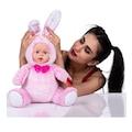 Bebek Yüzlü Pembe Tavşan 45 Cm Peluş Bebek