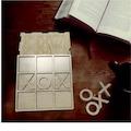 Ahşap Kutulu ve Ahşap taşlı XOX Oyunu