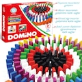 Circle Toys Ahşap Domino Taşları 100 Parça Renkli Eğitici Domino