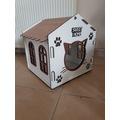 ahşap isme özel kedi evi kulübesi tasma isimliği hediye 5 mm mdf