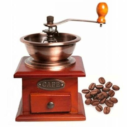 Ahşap Kahve Değirmeni Kahve Öğütücü