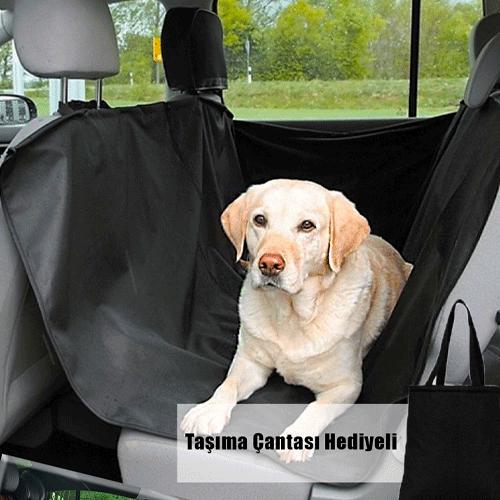 Araç içi Arka Koltuk Kedi Köpek Koltuk Kılıfı Örtüsü ÇANTALI