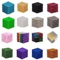 Renkli 5mm 216 Adet NeoCube Neodyum Mıknatıs Küp Neo Cube Bilye