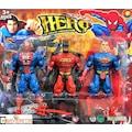 Batman Spiderman Superman Süper Kahramanlar 3 lü Oyuncak Figür Se