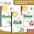 PALME 10. SINIF FİZİK + KİMYA + BİYOLOJİ KONU ANLATIMLI SET /2020