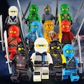Lego Uyumlu Ninjago 12 li Mini Figür Set Skyblue Süper Kahraman