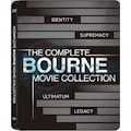 Bourne Complete Movie Collection Steelbook Blu-Ray 4 Film 4 Disk