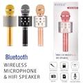 Orijinal Karaoke bluetooth mikrofon WSTER WS-858 Usb Ses Değiştir