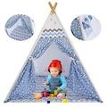%100 Pamuk Ahşap Çocuk Oyun Çadırı Kızılderili Çadırı Oyun Evi