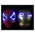2 Adet Maske - Örümcek Adam -Demir Adam Işıklı Maske