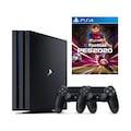 SONY Playstation 4 Pro 1 TB CUH-7216B + 2. Ps4 Kol + Pes 20