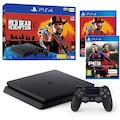 SONY PLAYSTATION 4 PS4 SLIM 500 GB+RED DEAD REDEMPTION 2 + PES19