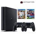 SONY PS4 SLIM 500 GB PES 2017 +GTA V + 2. KOL