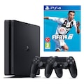 Sony PS4 Slim 500 gb Oyun Konsolu + 2. Ps4 Kol + Ps4 Fifa 19