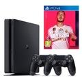 Sony PlayStation 4 PS4 Slim 500 GB Oyun Konsolu + PS4 FIFA 20 + 2