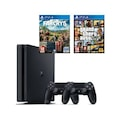 Sony Ps4 Slim 500Gb Oyun Konsolu + 2. Ps4 Kol + Ps4 Gta 5 + Ps4 F