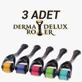 3lü Derma Delux Roller 540 Tinatyum İğne 0,5mm MasajAleti RoHs CE