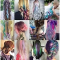 Renkli Çıt Çıt Saç - Dalgalı Modeller