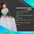 50 Adet geniş Lastikli burun Telli 3 Katlı Cerrahi Maske