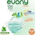 Evony Fresh Mentollü Maske Yumuşak Elastik Kulaklı 100 Adet