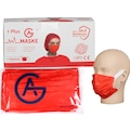 GA Plus 50 Adet Kumaş Lastik %98.8 Meltblown Filtre Kırmızı Maske