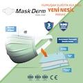 MaskDerm Yumuşak Elastik Kulaklı Cerrahi Maske 50Adet yeni nesil