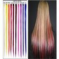 50-55 cm çıtçıtlı sentetik saç eki, dar