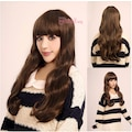 55cm uzun kahverengi hafif dalgalı peruk