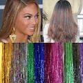 Saç Simi - Hair Tinsel + Kaynak Boncuğu Hediyeli
