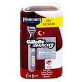 Gillette Mach3  Tıraş bıçağı 5 Yedek + Traş Makinesi