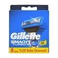 Gillette Mach3 Turbo 8 li yedek 3D YENİ ÜRÜN